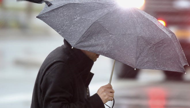 Umbrellas are a must-have for today - and the rain is expected to get heavier tonight.