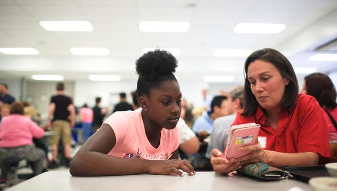 United Way runs Homework Diners at four middle schools in Buncombe County most weeks during the school year.