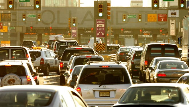 Congestion during rush hour at the Holland Tunnel.
