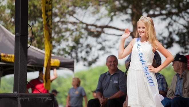 The new Teen Miss Eagle Fest was unveiled for 2017 during the opening ceremony of the Dover Eagle Fest on Saturday, May 20, 2017.