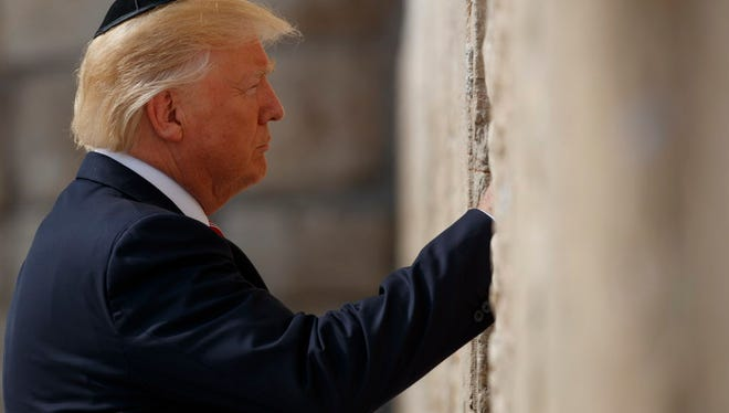 President Trump at the Western Wall in Jerusalem on May 22, 2017.