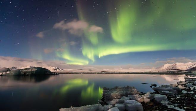 """""""Aurora Over Iceland"""" by Lynn Ronan."""