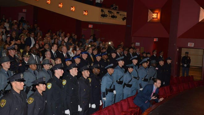 Forty-five police recruits will join 22 law enforcement agencies.