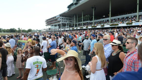 The crowd at the 2016 Haskell at Monmouth Park.