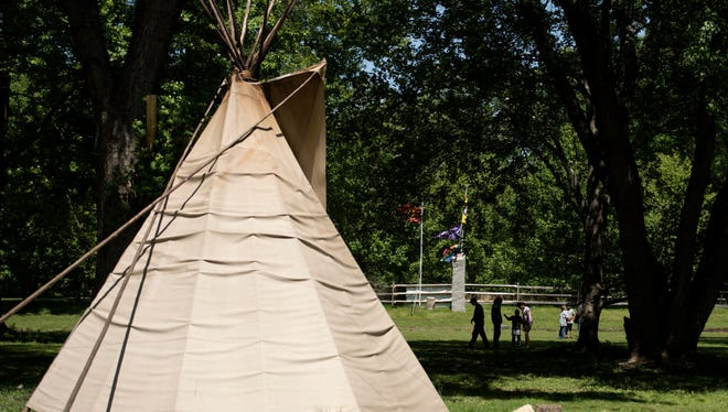 Split Rock Sweetwater Prayer Camp, where the Ramapough Lenape Nation was ordered by the township of Mahwah to remove tepees from the land.