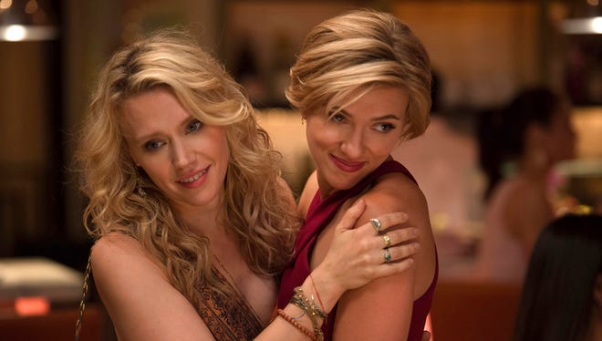 """Kate McKinnon, left, and Scarlett Johansson in a scene from """"Rough Night."""" The movie opens Thursday at Regal West Manchester Stadium 13, Frank Theatres Queensgate Stadium 13 and R/C Hanover Movies."""