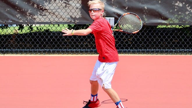Murfreesboro's Rich Lalance competes in a USTA Southern Closed tournament. Lalance was ranked the No. 1 player in the Southern region in the 10-under division until this week. He is currently No. 2.