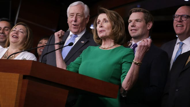 Top Democratic House leaders Nancy Pelosi and Steny Hoyer, March 24, 2017 in Washington, D.C.