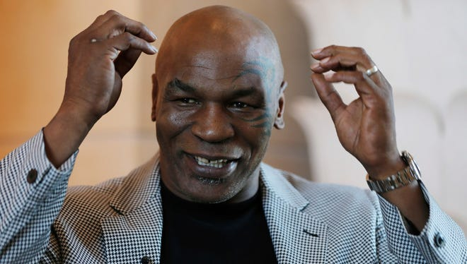 Mike Tyson last month during a trip to Dubai to talk about opening a boxing gym there.