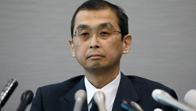 Shigehisa Takata, Chairman and President of Japanese auto part maker Takata Corp. listens to a question from a journalist during a news conference in Tokyo, Japan, 26 June 2017, after filing for bankruptcy protection in Japan and the United States. The Japanese airbag-maker Takata filed for bankruptcy protection in Japan and the USA on 26 June 2017.