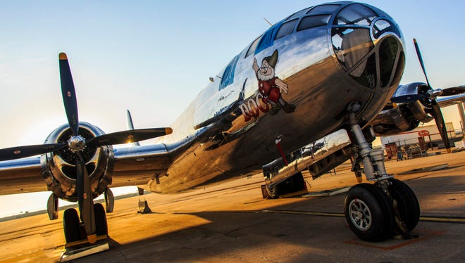 """The B-29 Superfortress known as """"Doc."""" The aircraft will be at EAA's AirVenture Oshkosh later this month. (Photo Courtesy Doc's Friends)"""
