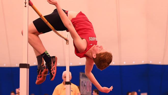 Tim DeLorenzo broke the Northern Highlands record with a high jump of 6 feet, 4 inches.