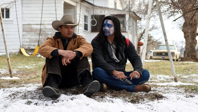 "Jeremy Renner and Gil Birmingham in ""Wind River."""