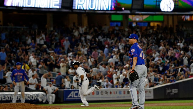 Hansel Robles after allowing a homer Monday