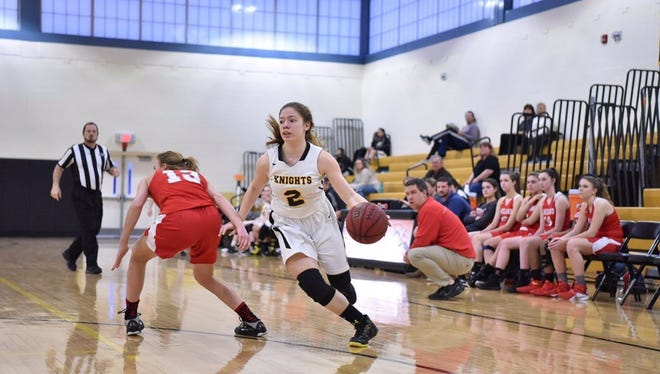 Nicole Gaito, right, has emerged as one of Bergen Tech's best shooters.