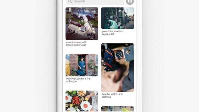 A screenshot of Pinterest's mobile app.