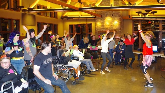 Participants having fun at last year's inaugural Stroke Camp