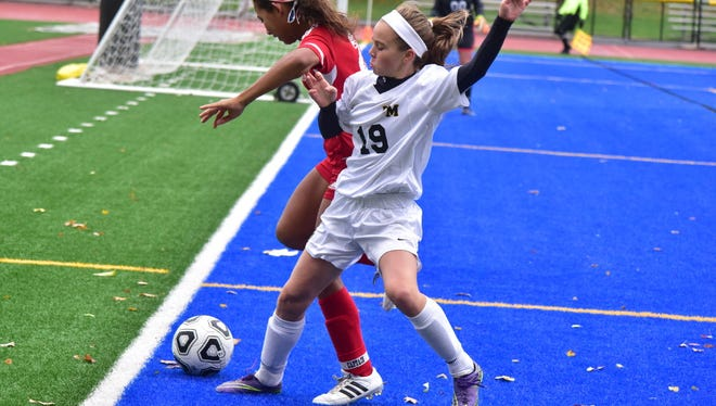 Sophomore Riley McGill (19) and the West Milford High School girls' soccer team expects to get back on track after a slow start to the fall season.