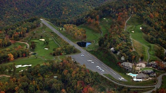 The inaugural Mountain Air 5K near Burnsville climbs