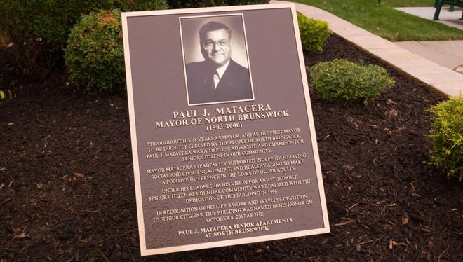 The North Brunswick Senior Housing Complex, 740 Herman Road, was renamed in honor of Paul J. Matacera, a 46-year township resident and former mayor for 18 years.