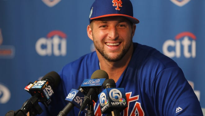 """Former NFL quarterback and current New York Mets baseball prospect Tim Tebow will speakon Nov. 12 at the """"Broadcast Campus"""" of the Liquid Church in Parsippany."""