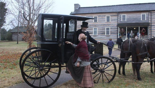 Wynnewood visitors can see the 1860s Brougham carriage displayed and driven by historical re-enactor Bill Glidden. Named after English statesman Lord Brougham who designed it in 1839, this enclosed one-horse carriage was widely used in Middle Tennessee by the 1850s.