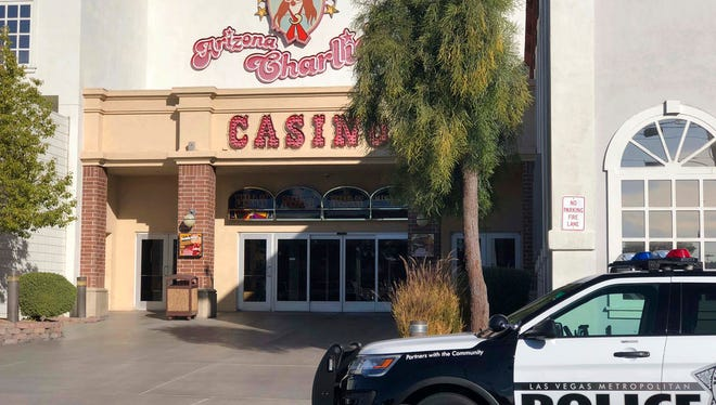 Metropolitan Police Department officers were called sometime after 6:30 a.m. Saturday, Dec. 30, 2017, to investigate reports of a shooting at Arizona Charlie's casino-hotel in Las Vegas. Police in Las Vegas say two security guards are dead after being shot in a room at a hotel-casino.