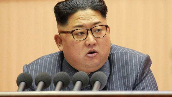 """North Korean leader Kim Jong Un allowed peace talks to begin with South Korea and threatened using his """"nuclear button"""" on the US."""