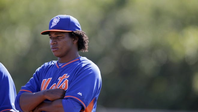 Jenrry Mejia during spring training in 2014.