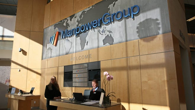 Manpower Group says fourth quarter 2017 earnings got a boost from tax reform.