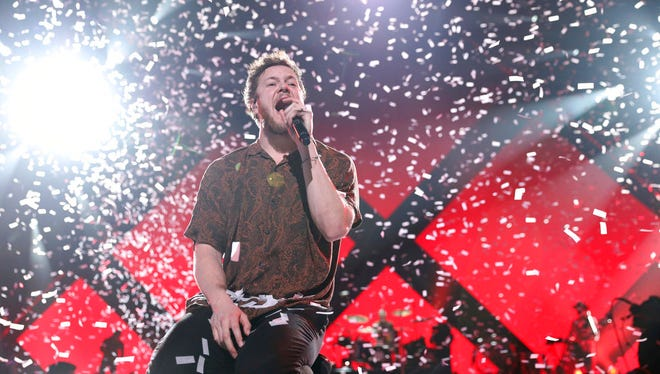 Imagine Dragons perform at the EA Sports Bowl at The Armory on Thursday, Feb. 1, 2018, in Minneapolis.
