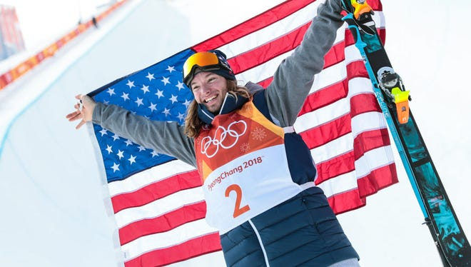 In 2018: David Wise of USA takes 1st place during the Freestyle Skiing Men's Finals Ski Halfpipe at Pheonix Snow Park on February 22, 2018 in Pyeongchang-gun, South Korea.