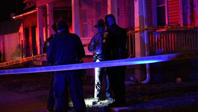 Pennsylvania State Police investigate a Friday night shooting in York. Police were on scene in the 800 block of Maryland Avenue.