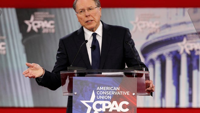 National Rifle Association Executive Vice President and CEO Wayne LaPierre, speaks at the Conservative Political Action Conference (CPAC), at National Harbor, Md.