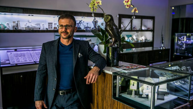 Jewelry designer and owner of Port Royal Jewelers William Boyajian in Naples on Thursday, March 1, 2017. The store is celebrating its 50th anniversary this year.
