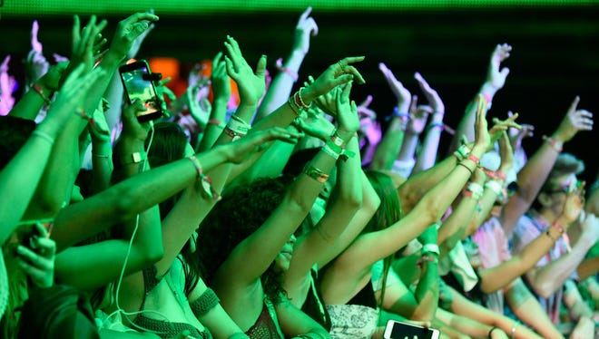 INDIO, CA - APRIL 21:  A view of the crowd during day 1 of the 2017 Coachella Valley Music & Arts Festival (Weekend 2) at the Empire Polo Club on April 21, 2017 in Indio, California.  (Photo by Frazer Harrison/Getty Images for Coachella)