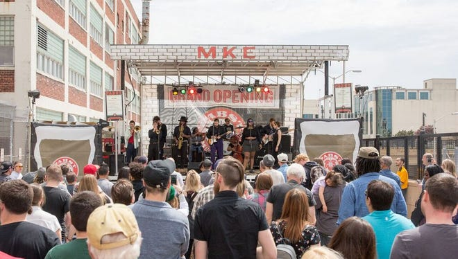 Pabst Milwaukee Brewery and Taproom plans a street party to celebrate its first anniversary on May 19. The brewery took to the streets last year for its grand opening.