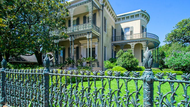 This 6 bedroom, 3 and 31/2 bath home is located at1448 Fourth Street in the New Orleans Garden District. It is listed at $4,300,000.