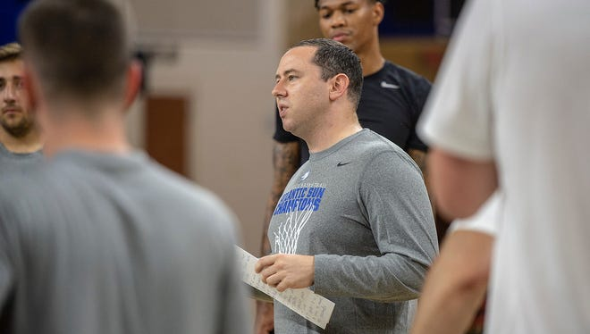 First-year FGCU coach Michael Fly announced Friday that the Eagles will play at Michigan State on Nov. 11. There are only two games against non-Division I foes left to schedule.