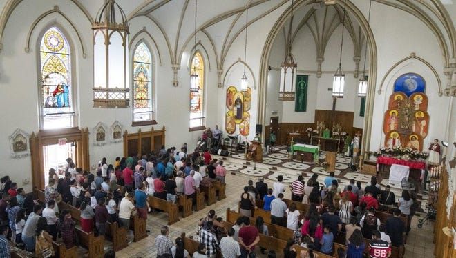 San Carlos Borromeo Catholic Church, Carthage, has about 1,300 members, and almost all of them are first- or second-generation Central and South American immigrants.