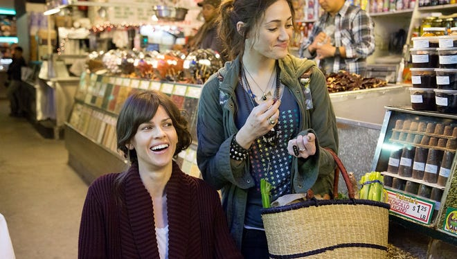 """Hilary Swank, left, and Emmy Rossum in""""You're Not You."""""""