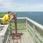 A view of the Bay of Green Bay from Eagle Tower in Peninsula State Park.