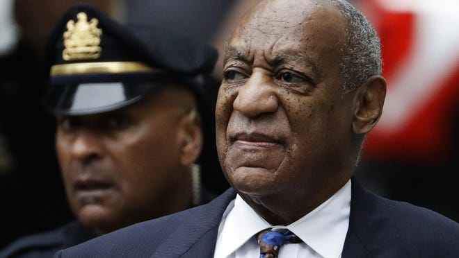 """FILE - In this Sept. 24, 2018 file photo Bill Cosby arrives for his sentencing hearing at the Montgomery County Courthouse in Norristown, Pa. The Imprisoned actor says his insurance company is settling another lawsuit filed by a woman accuser without his permission. In a statement, Cosby accuses American International Group Inc. of """"egregious behavior."""" The 81-year-old is serving a three- to 10-year prison term, after a jury found he sexually assaulted a woman at his home in 2004. (AP Photo/Matt Slocum, File)"""