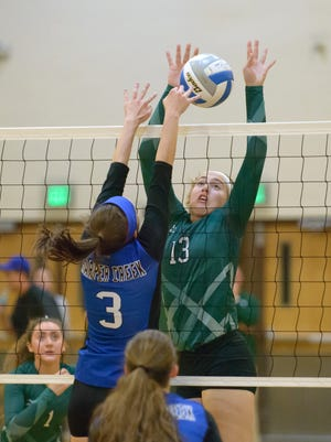 Pennfield's Alicia Lake (13) in game action Wednesday night.