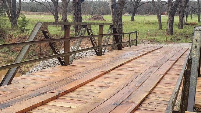 City employees recently completely rebuilt the bridge on McClain Road in Ardmore. City employees did all the work themselves rather than bidding the project out to a contractor.