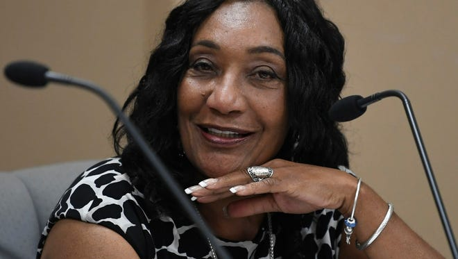 Incoming Montgomery School Superintendent Ann Roy Moore discusses her contract in Montgomery, Ala. on Tuesday May 15, 2018.