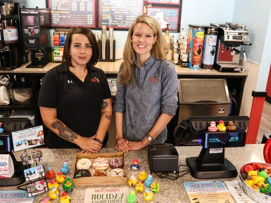 Owner Carrie Neigel, right,  and General Manager Lauren