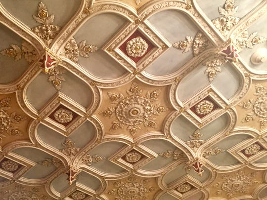 Some of the original ceiling work at the Abbey.