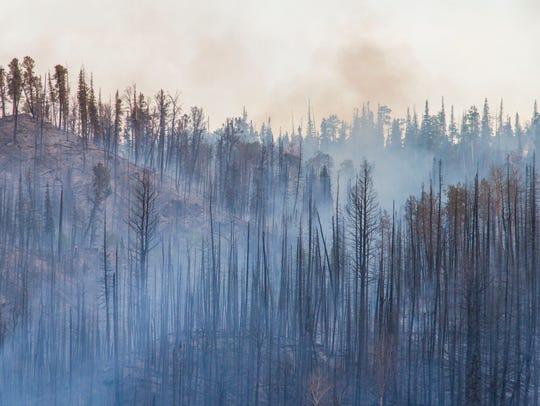 A fire burns in Brian Head on Saturday, June 17, 2017.