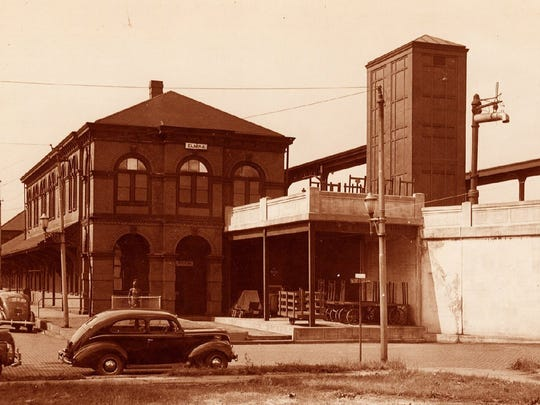 Pictured is the Elmira Erie depot, shown sometime after the elevation of the tracks through the city in 1934. The station dates back to the late 1800s.
